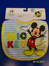 Mickey Mouse Disney Fabric Cloth Small Bib Fabric Baby Shower Party Gift - White