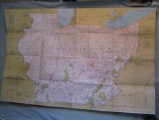 ILLINOIS INDIANA OHIO KENTUCKY MAP HEARTLAND USA National Geographic Feb. 1977