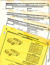 1967 1968 1969 DATSUN 311 SPL 1600 SRL 2000 BODY PARTS FRAME CRASH SHEETS MF 2