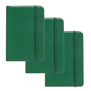 """3pk Simply Genius Leatherette A6 Journal 3.7""""x5.7"""" Writing Notebook Lined Paper"""