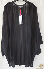 Limited Collection Edge to Edge Cocoon Cardigan with Linen, Black, M/L, BNWT