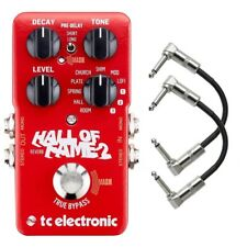 TC Electronic Hall of Fame 2 Reverb Guitar Effects Pedal with Patch Cables