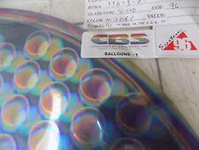 "Dichroic Glass:CBS 96 COE Balloons Pattern; Multi-Color on Flat Black - 3""Sq"