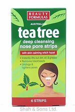 Tea Tree Smooth Deep Cleansing Nose Pore Strips Removes Blackheads Unclog Pores