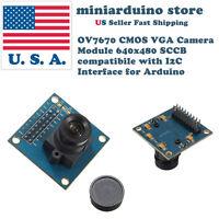 VGA OV7670 CMOS Camera Module Lens CMOS 640X480 SCCB I2C Interface Arduino USA