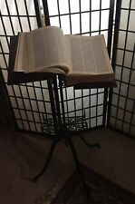 19th Century Cast Iron and Walnut Dictionary/Bible Stand, EC original finish.