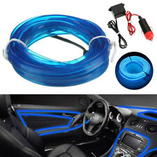 16.5ft LED Car Interior Decor Blue Atmosphere Wire Strip Light Lamp Accessories