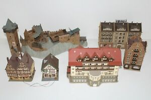8362/3- Konvolut Kibri Vollmer H0 Burg Gebäude Schwarzwald Stadthaus