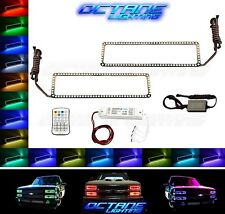 88-98 Chevy GMC Truck Color Changing LED RGB Upper Headlight Halo Rings Pair M7