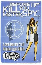 Before I Kill You Mister Spy Card Game
