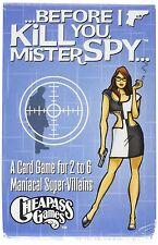Avant que je vous tuer mister spy jeu de carte