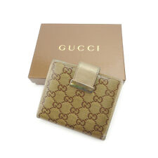 GUCCI W Hock Wallet Crystal GG unisex Authentic Used G881