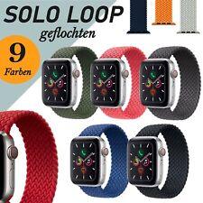 Geflochtenes Solo Loop Nylon Armband für Apple Watch Series 6 5 4 3 2 SE Braided