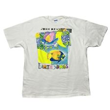 Rare VTG John Denver Earth Songs 1990 Album 1991 Tour Fish Bird T Shirt 90s XL