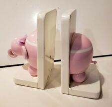 Pair Vintage Elephant Bookends - Children's Pippen Hill Handmade wooden wood