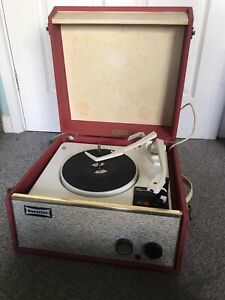 1960s Dansette Tempo Record Player Turntable