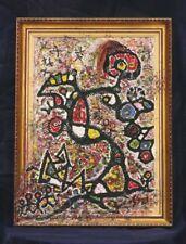 Guignard Michel Tableau abstrait 1995 artiste Comtois Menouille Jura