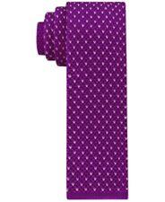 Tommy Hilfiger Purple Knit Birds Eye Skinny Tie Mens New 029407699228