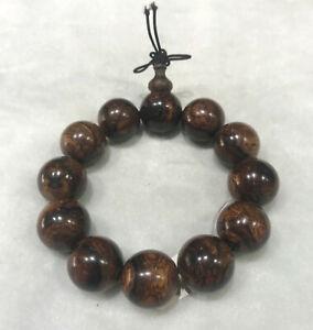 20 mm China HaiNan Huanghuali wood Bracelet scented rosewood Beads Bracelet 水纹