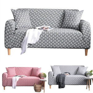 Elastic Sofa Cover Flower Knitted Slipcover Lounge Living Room Couch Protector