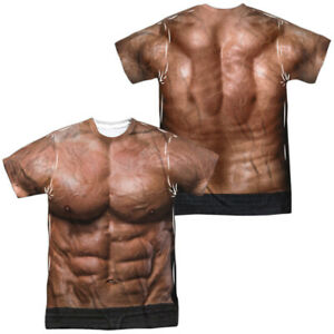 Trevco Originals Muscle Costume Front Back Licensed Sublimation Adult T-Shirt