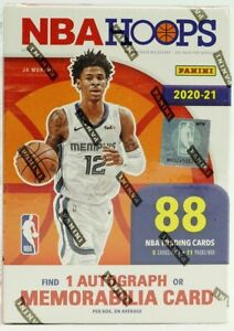 2020/21 Panini NBA Hoops Basketball 11-Pack Blaster Box 1 auto/patch SEALED