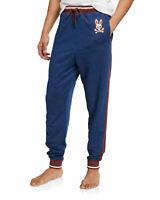 Psycho Bunny Men's Velvet Blue Brushed Fleece Jogger Pants Large L NEW