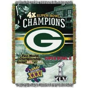 Green Bay packers Woven Tapestry Throw