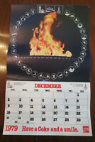 """1980 COCA~COLA WALL CALENDAR - WERE YOU BORN IN THIS YEAR 1980 ??  17 1/2"""" x 11"""""""