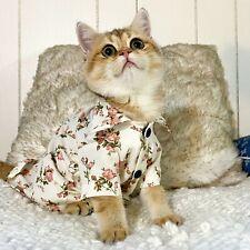Flower Pet Shirt, Cat Cotton Shirt, Pet Flower Jacket, Pet Cute Cloth, Sweat
