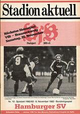 Bl 82/83 vfb stuttgart-hamburgo sv, 06.11.1982