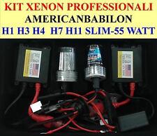KIT XENON 55W XENON SLIM COMPATIBILI CANBUS H1 H3 H4-2 H7  H11 6000K 8000K