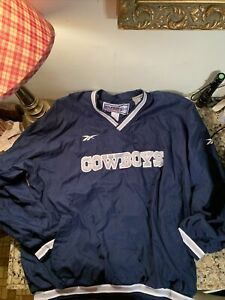 Dallas Cowboys REEBOK NFL PRO LINE Windbreaker Size XL Applique Embroidery Lined