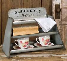Primitive new tin counter display/storage rack/ Designed by nature/nice kitchen