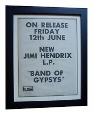 JIMI HENDRIX+Band Gypsys+POSTER+AD+RARE ORIGINAL 1970+FRAMED+EXPRESS GLOBAL SHIP