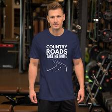 Country Roads Take Me Home Mens T Shirt Black Blue Country Music John Denver