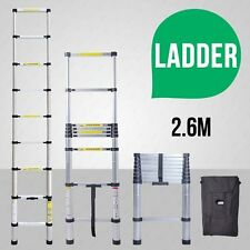 2.6m New Multi-Purpose Aluminium Telescopic Ladder Extension Extendable Steps SM