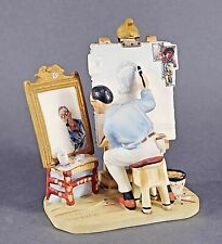 Norman Rockwell 1982 Gorham Triple Self Portrait Figurine