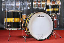 Ludwig Club Date Vintage 3pc Pro Beat Drum Set Black/Gold Duco DEMO MODEL