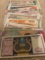 Collection Of World Banknotes. 50 Pcs. All Different Lot. Uncirculated Set