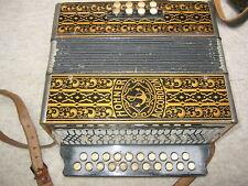 "Nice old German Hohner Marca Registrada 2row diatonic button accordion in ""C/F"""