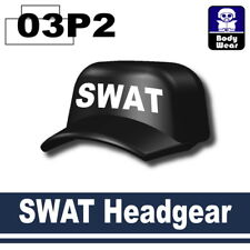 Black SWAT sniper Hat (W4)   Cap compatible with toy brick minifigures