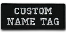 Custom Embroidered Your Name Tag Text Patch Motorcycle Biker HOOK&LOOP /IRON/SEW