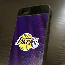 For iPhone SE 5S HYBRID HIGH IMPACT ARMOR CASE COVER NBA LA LOS ANGELES LAKERS