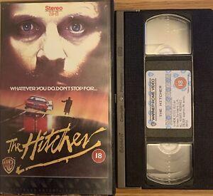 THE HITCHER :RUTGER HAUER-HORROR-VHS VIDEO/WARNER HOME VIDEO 1988.