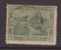 Tasmania WYENA postmark type 1b (circle stops) on ½d pictorial rated R- (7)