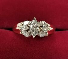 ISP JDM Import Co. 14k Yellow 7 Marquise Diamonds Wedding Ring 1.40 cts. t.w.
