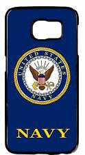 US Navy USN Army Military Logo New Back Case Cover For Samsung Galaxy S6 S7 Edge
