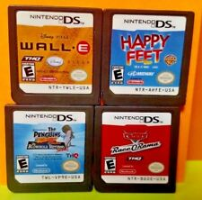Disney Cars Race O Rama Wall E Happy Feet Penguins of.. Nintendo DS Lite 2ds 3ds
