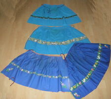 4 VINTAGE ANTIQUE WOMENS GIRLS PEASANT FOLK COSTUME APRONS MORAVIAN HAND PAINTED